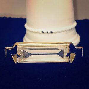 Vintage Style Gold Hinge Bracelet